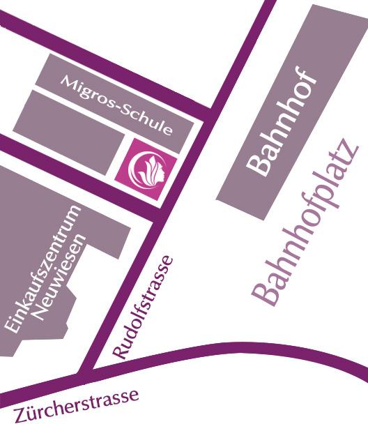 Plan zur Anreise für Gynomed - Der Frauenarztpraxis in Winterthur